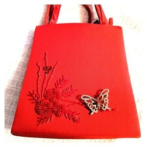 Handbags - 🌹3for$20 Small Red Oriental Purse